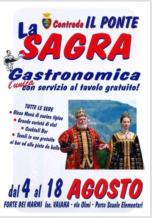 Italian food festival Sagra il Ponte in Modena