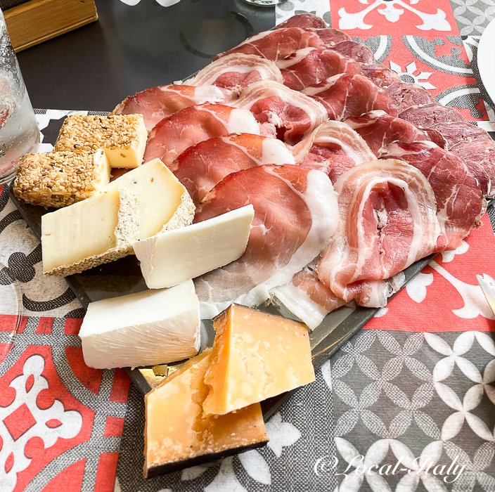 Local salami and cheese from Monte Isola
